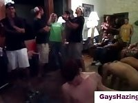 Gay dude assfucks straight guy in public and cums on him