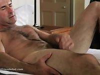 Mature Guy Wanking His Dick