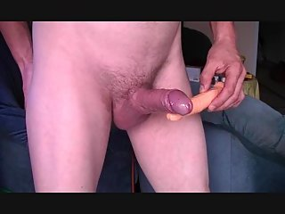 Amateur Stud Stroking His Dong With A Dildo