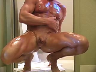 Lecher licking the WC &  cum swallowing