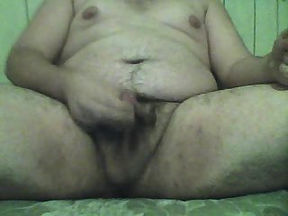 Fat Stud jacking off