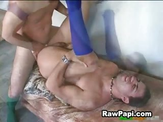 Latino Studs Messy Frigging After Suck
