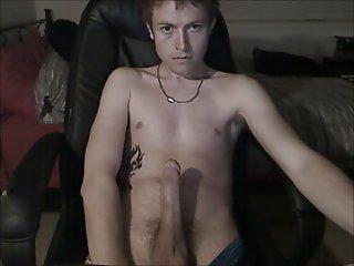 Tattooed guy teasing on cam