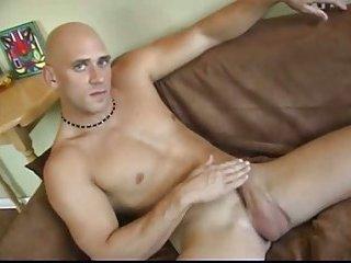 Bald Gay Guy Whacking Off