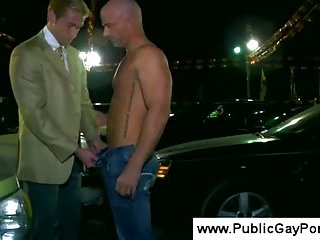 Car sales man sucks dick to a muscled tattoo