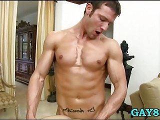 Randy masseur milks his client