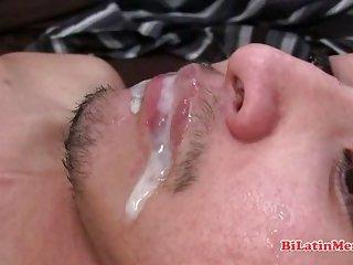 Hot straight masculine latino guy gets sucked
