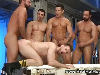 This gay jock gets to go first and ass fuck his friend