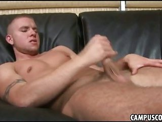 Eager college jock cant resist his hornyness and bates