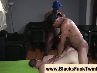 Twink gets black cock