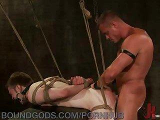 Rough Sex For Bondaged Stud
