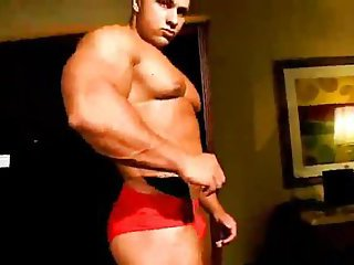 Sexy Muscle Guy Showing His Body
