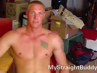 Guy In Uniform Stripping For Wanking