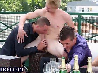 Bi studs suck and tug hard dicks