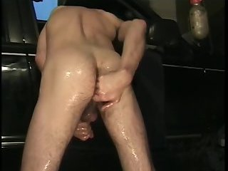 Naughty Dude Wanking By The Car
