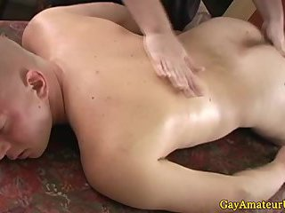 Muscle jock getting his butt poked