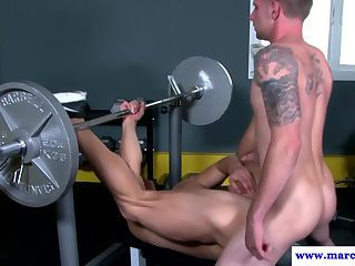Real straight jock in anal session