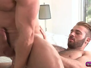 Horny men gets filled and drilled in their tight asses.