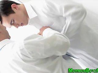Suited mormon dudes fuck